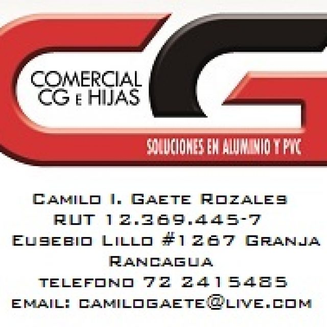 Comercial CG Vidrios, aluminios y Pvc